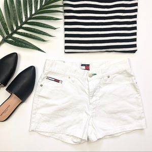 Tommy Hilfiger white denim jean shorts juniors